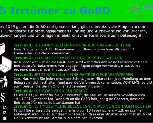 5 Irrtümer zu GoBD
