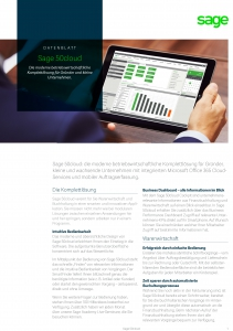 Sage 50cloud Datenblatt