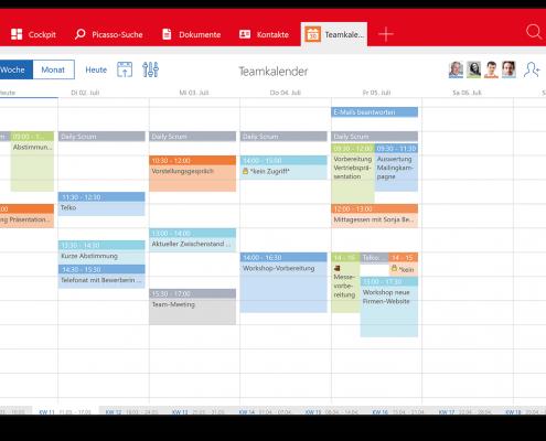 Komfortabler Teamkalender